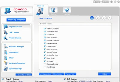 screenshot-Comodo System Cleaner-1