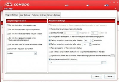 screenshot-Comodo Time Machine-2