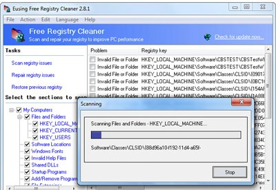 screenshot-Eusing free registry cleaner-1