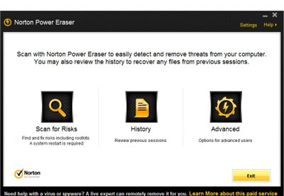 screenshot-Norton Power Eraser-1
