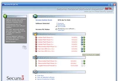 screenshot-Secunia PSI-2