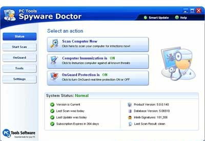 screenshot-Spyware Doctor-1