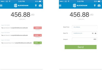 screenshot-Blockchain for the iPhone-1