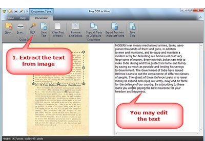 screenshot-Free OCR to Word-2