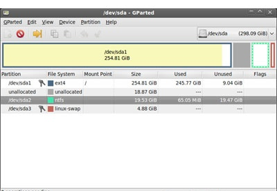 screenshot-Gnome Partition Editor GParted-1