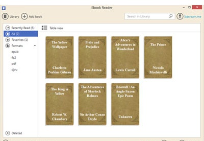 screenshot-IceCream Ebook Reader-1