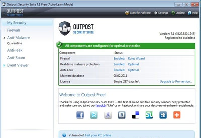 screenshot-Outpost Security Suite FREE-1