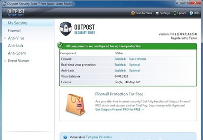 screenshot-Outpost Security Suite FREE-2