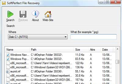 screenshot-Softperfect File Recovery-1