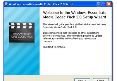 screenshot-Windows Essentials Codec Pack-1