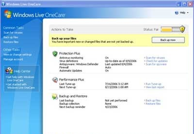 screenshot-Windows Live OneCare Scanner-1