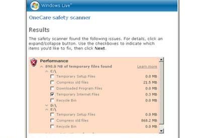 screenshot-Windows Live OneCare Scanner-2